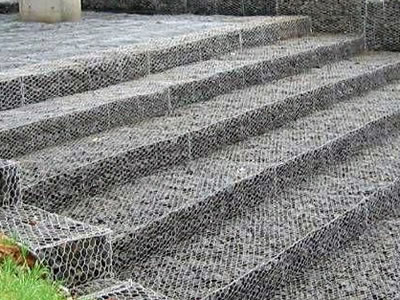 Several lines of gabion mattresses are installed under the bridge.