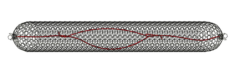 A drawing of sack gabion with a reinforcing wire insert.