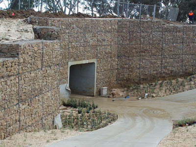Woven Gabion Cage Accommodate Differential Settlements
